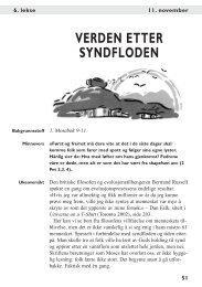 VERDEN ETTER SYNDFLODEN - Bibelstudier