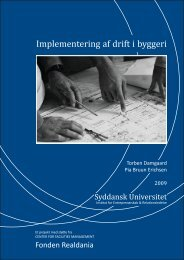 Implementering af drift i byggeri - Dansk Facilities Management
