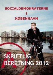 SKRIFTLIG BERETNING 2012 - Socialdemokraterne i København
