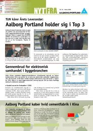 TUN kårer Årets Leverandør: Aalborg Portland holder sig i Top 3