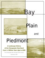 Bay, Plain, and Piedmont: A Landscape History of - Chesapeake ...