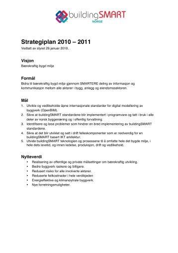 Strategiplan 2010 – 2011 - buildingSMART