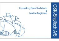 Consulting Naval Architects & Marine Engineers v/ OKS-ShipTech A/S