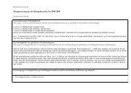 Bilag 1: Afrapportering på udviklingsplan for 2007-08 - KEA
