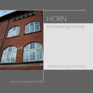 Brochure, Renoveringsrammer - HORN Vinduer