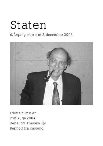 December 2003, årgang 6, nr. 2 - STATEN