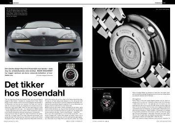 Det tikker hos Rosendahl - Timegeeks by Kristian Haagen
