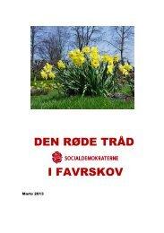 Den røde tråd marts 2013 - Socialdemokraterne i Favrskov