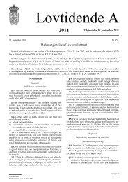 Bekendtgørelse af lov om luftfart - Trafikstyrelsen
