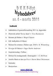 Indhold Indkaldelse til generalforsamling 2011 m. dagsorden