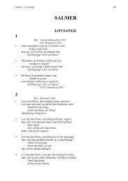 Salmer - Lovsange