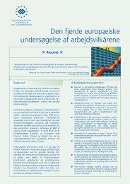 Den fjerde europæiske undersøgelse af arbejdsvilkårene