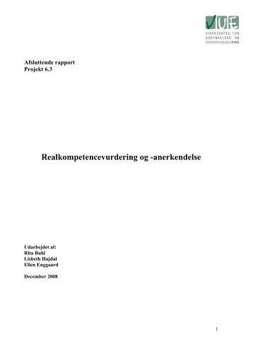 Realkompetencevurdering og -anerkendelse - Videncenter for ...