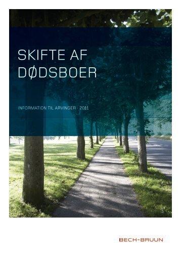 SKIFTE AF DØDSBOER - Bech-Bruun