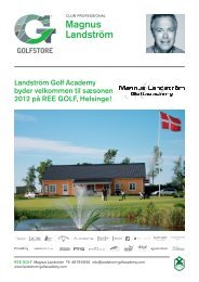 Landström Golf Academy byder velkommen til sæsonen 2012 på ...