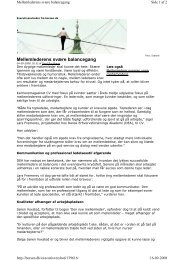 Mellemlederens svære balancegang - FUHU