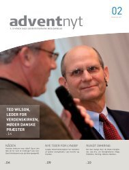 Adventnyt 2011-02.indd - Syvende Dags Adventistkirken