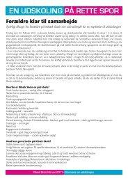 EN UDSKOLING PÅ RETTE SPOR - Kibæk Skoles hjemmeside