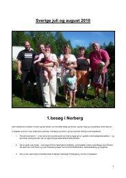 Sverige juli og august 2010 1. besøg i Norberg
