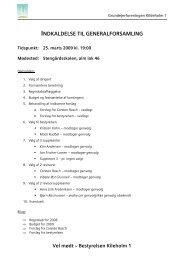 2009 Indkaldelse Generalforsamling - Kildeholm1, Grundejerforening