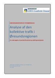 Analyse af den kollektive trafik i Øresundsregionen - Efficiens