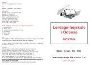 Lørdags-højskole i Odense 2003/2004