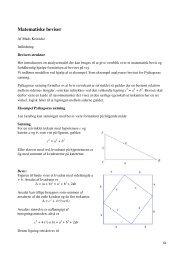 Matematiske beviser - Uvmat