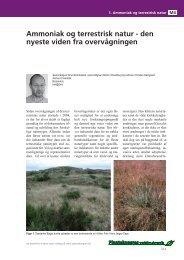 Ammoniak og terrestrisk natur - den nyeste viden fra ... - LandbrugsInfo