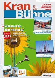 Kran & Bühne, August/September 2004