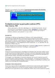 Fordøjelsessystemet og post-polio syndrom (PPS) - Velkommen til ...