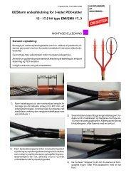 Endeafslutning for 3-leder PEX-kabler type EMI17_3 ... - DESITEK A/S