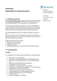 Udarbejdelse af Vandsynsprotokol - Udbud - Vejdirektoratet