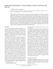 Metal-Loaded MgAl Oxides for Transesterification of Glyceryl ...