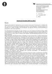 Afgørelse af 5. december 2005 (j.nr. 810.2) - Klagekomitéen for ...