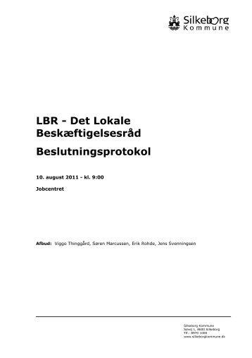 ons. d. 10. august kl. 9.00 - LBR Silkeborg - Silkeborg Kommune