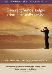 Den rådgivende sælger i den finansielle sektor - Foredragsholder ...