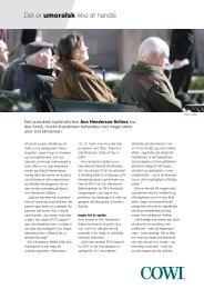 Læs baggrundsinterviewet med Ann Henderson-Sellers (pdf). - Cowi