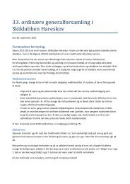 Formandens beretning - Skiklubben Hareskov