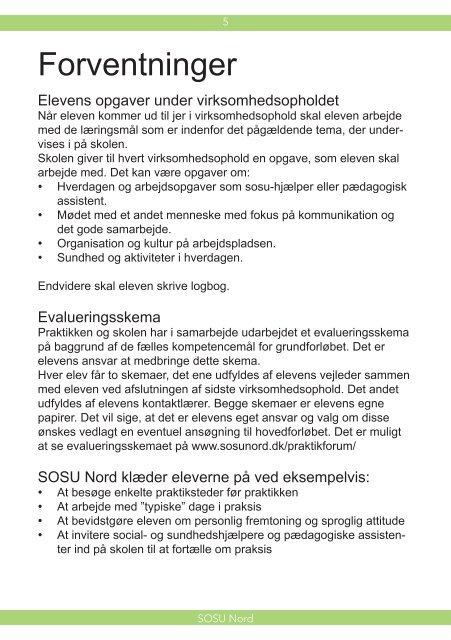 Virksomhedsophold på grundforløbet - SOSU Nord