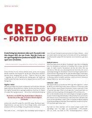 Credo fortid og fremtid - KFS arkiv