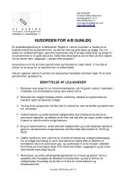 HUSORDEN FOR A/B GUNLØG - AB Gunløgs