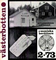 • samiska berättare - Västerbottens museum