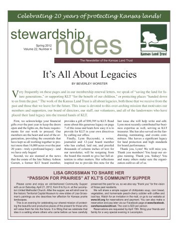 Winter 2011/Spring 2012 - Annual Report: It's all about Legacies...
