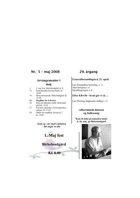 S Posten maj 2008 - Socialdemokraterne Albertslund