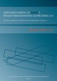 GEORG BERG A/S - Byggeriets Uddannelser