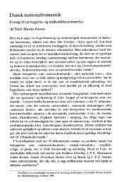 Niels Martin Jensen Dansk nationalromantik. Forsøg til en begrebs
