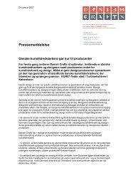 Download Pressemeddelelser af 24.01.2007 - Danish Crafts