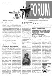 Millenniumsziel 1 - Andheri-Hilfe Bonn