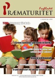 Fagbladet for præmaturitet nr. 6, 2011 side 20 - Jordemoderforeningen