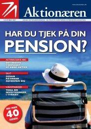 har du tjek på din pension? - Dansk Aktionærforening